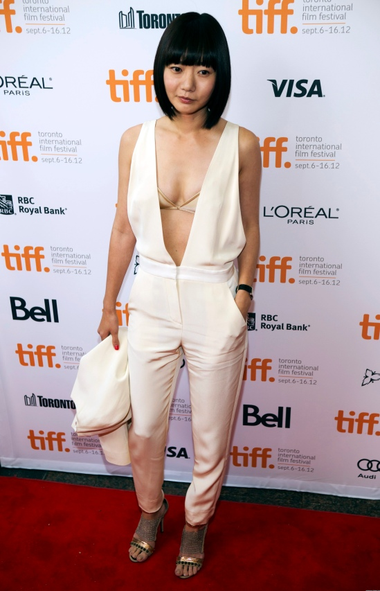 "Bae Doona of South Korea arrives on the red carpet for the gala presentation of the film ""Cloud Atlas"" during the Toronto International Film Festival"